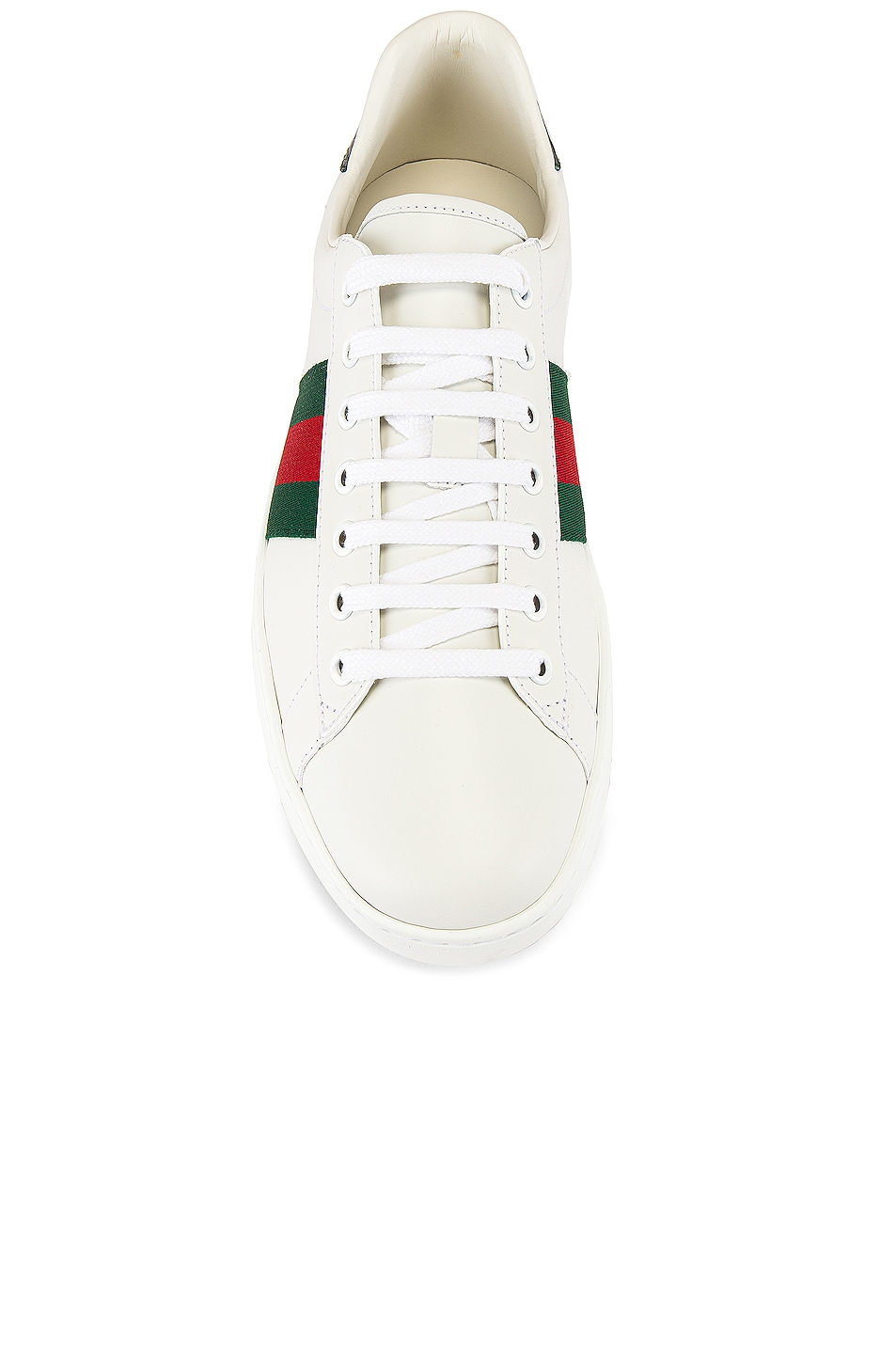 Image 4 of Gucci New Ace Sneaker in White & Red & Green