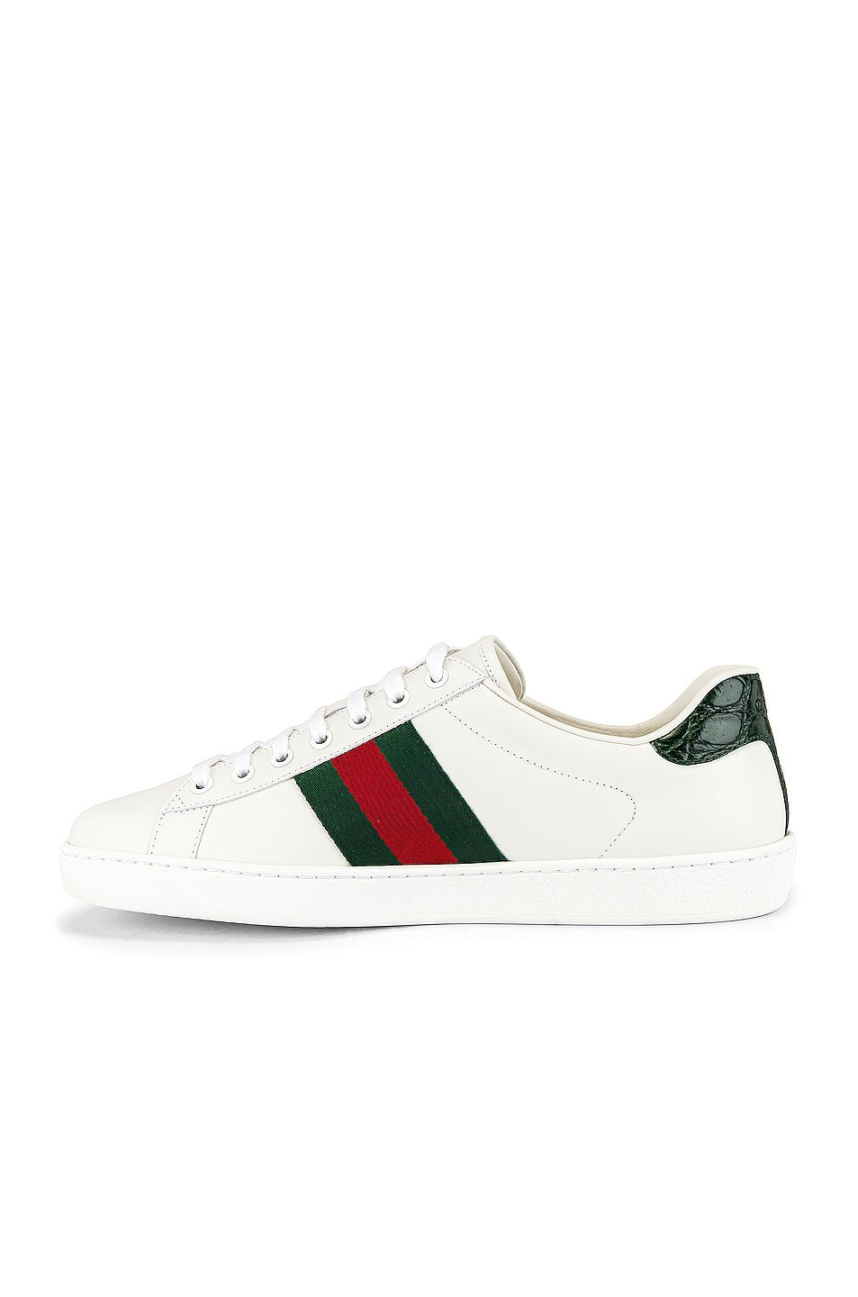Image 5 of Gucci New Ace Sneaker in White & Red & Green