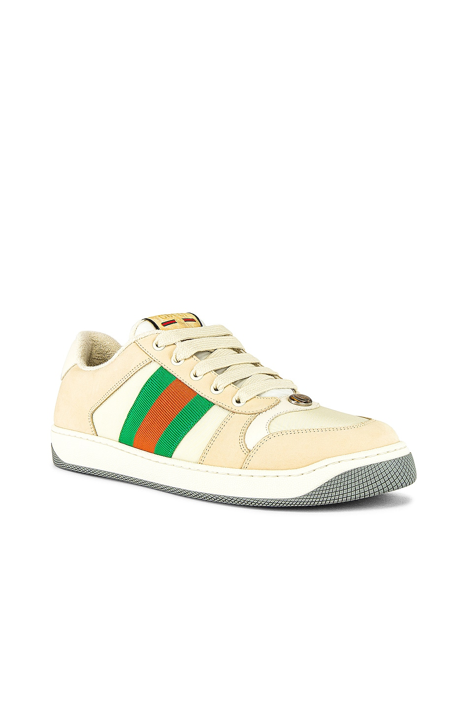 Image 1 of Gucci Screener Low Top Sneaker in White & Red & Green
