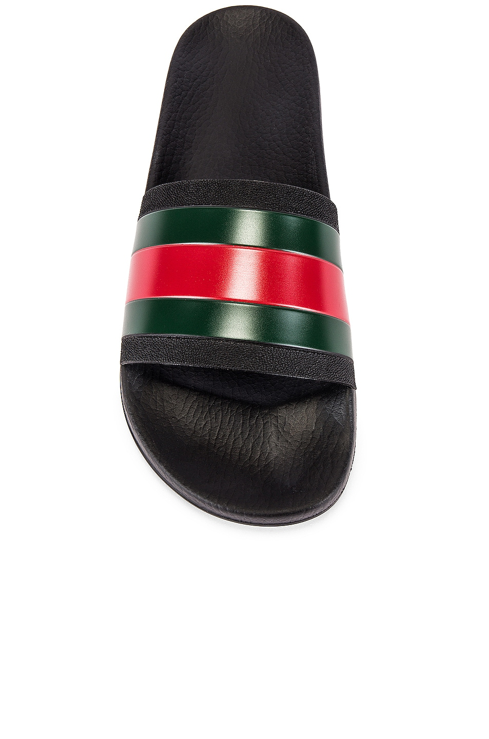 Image 4 of Gucci Pursuit '72 Slide in Black & Green & Red