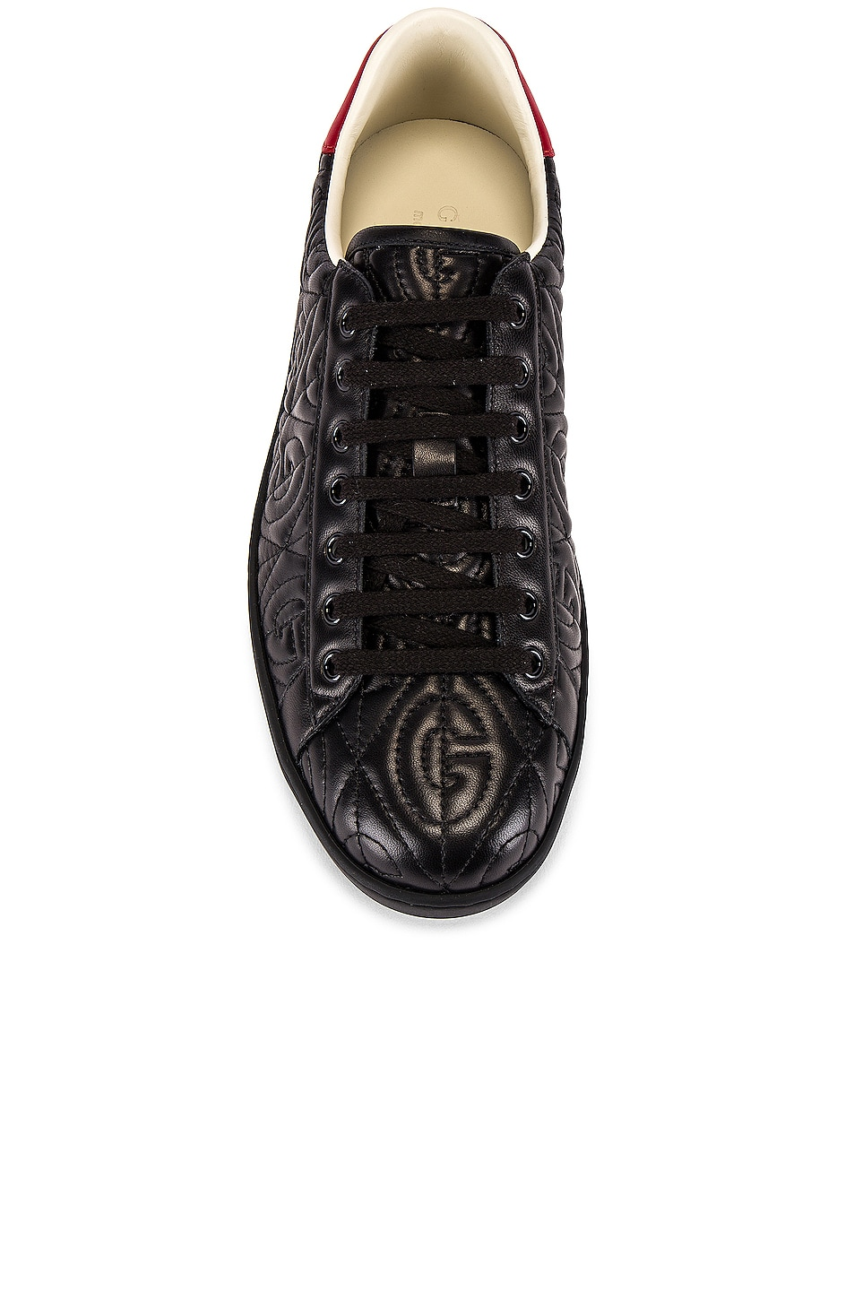 Image 4 of Gucci New Ace Sneaker in Black & Red Flame