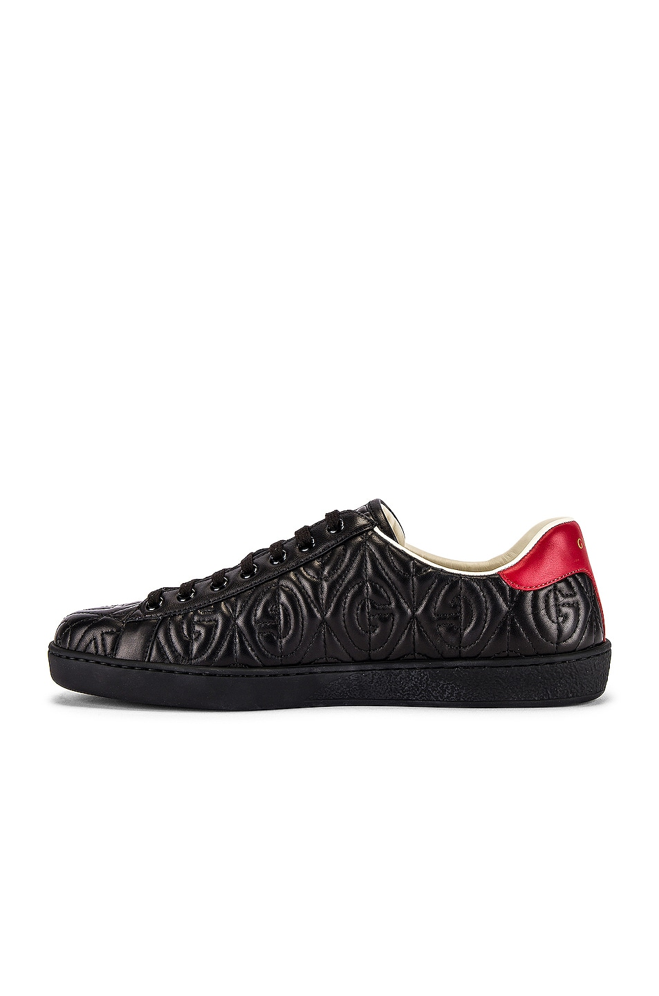 Image 5 of Gucci New Ace Sneaker in Black & Red Flame