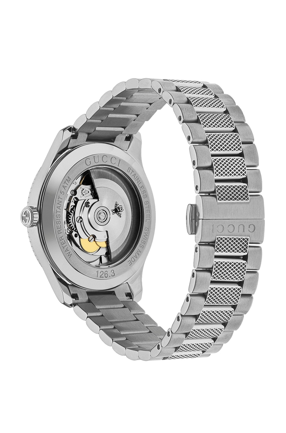 Image 2 of Gucci 40MM Automatic Etched Face Watch in Silver