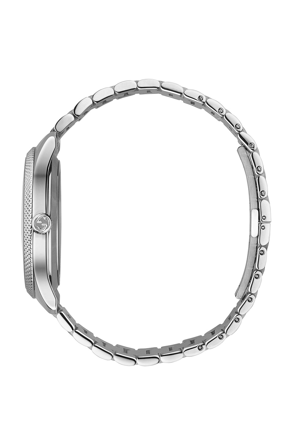 Image 3 of Gucci 40MM Automatic Etched Face Watch in Silver