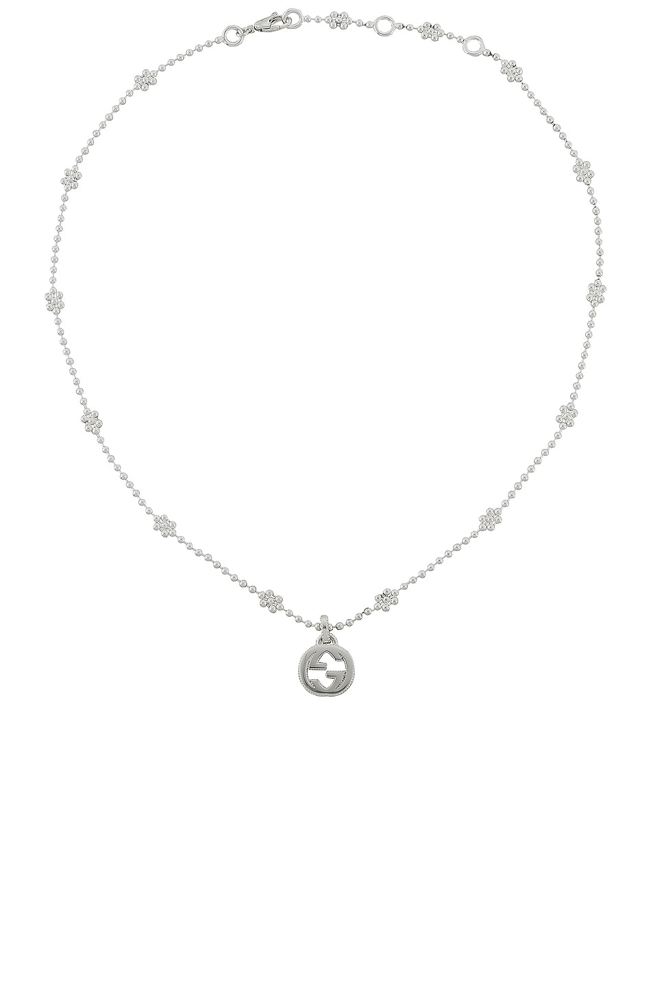 Image 1 of Gucci Interlocking G Pendant Necklace in Sterling Silver