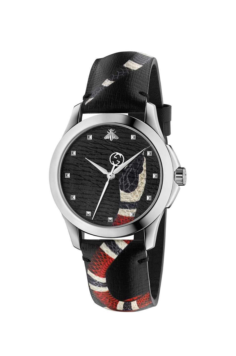 Image 1 of Gucci 38MM Le Marche des Merveilles Printed Snake Watch in Grey & Multicolor