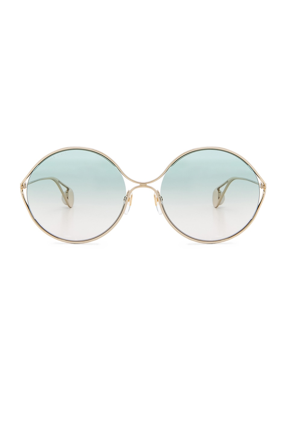Image 1 of Gucci Fork Sunglasses in Gold