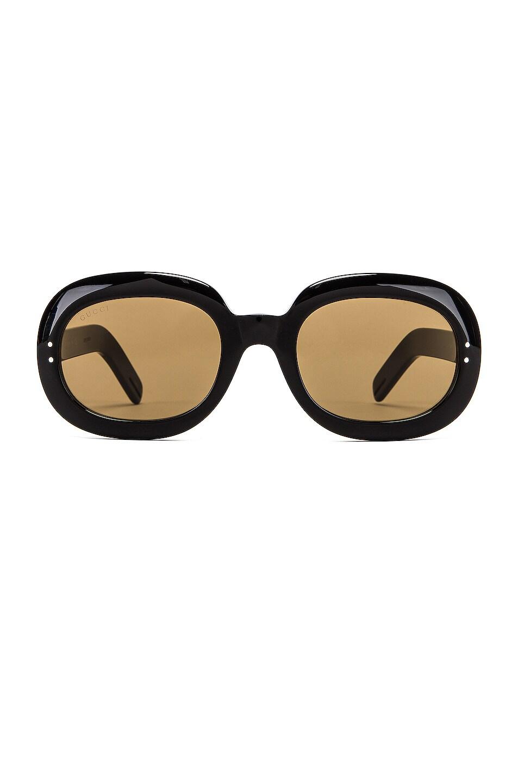 Image 1 of Gucci Small Acetate Sunglasses in Brown