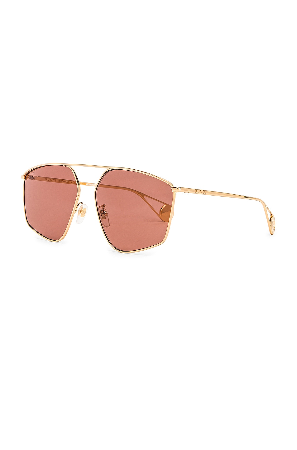 Image 2 of Gucci Shiny Gold Sunglasses in Red