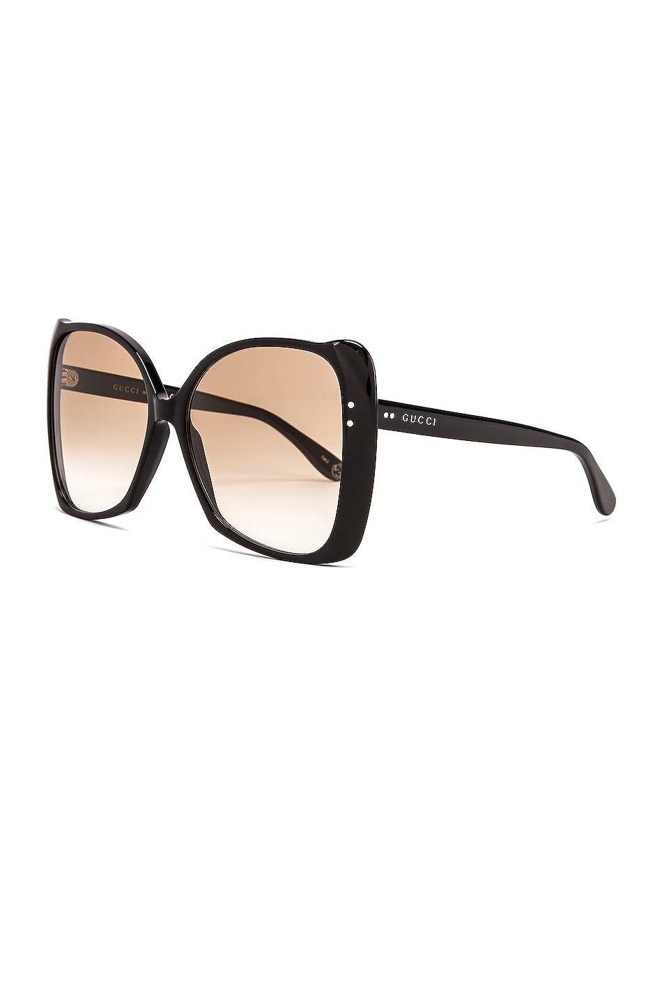 Image 2 of Gucci Square Acetate Sunglasses in Brown