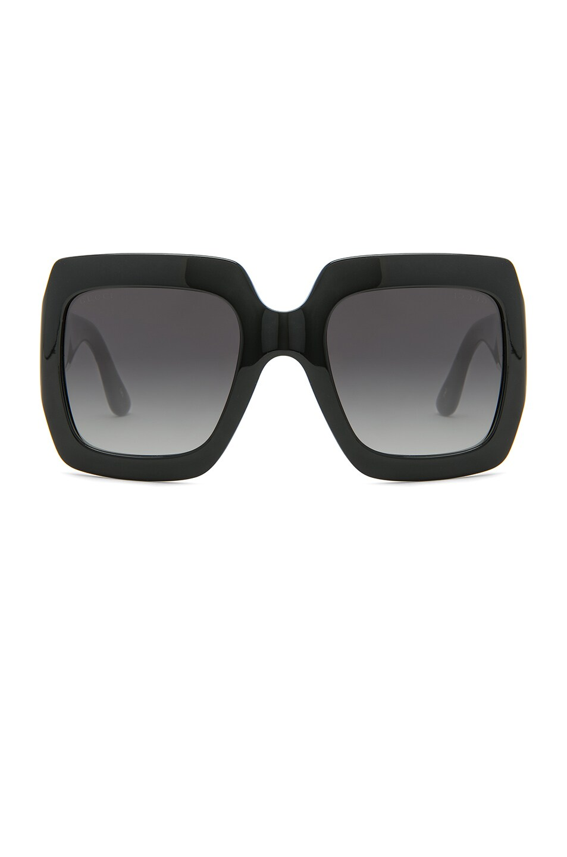 Image 1 of Gucci Fashion Inspired Sunglasses in Black