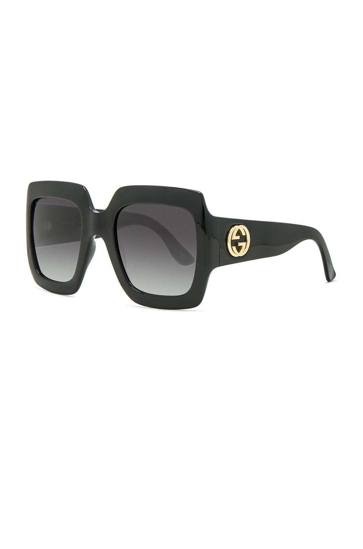 Image 2 of Gucci Fashion Inspired Sunglasses in Black