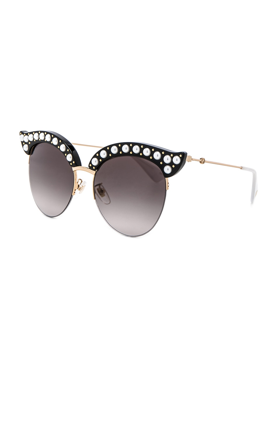 Image 2 of Gucci Opulent Luxury Pop Glitter Sunglasses in Black Pearls Gold