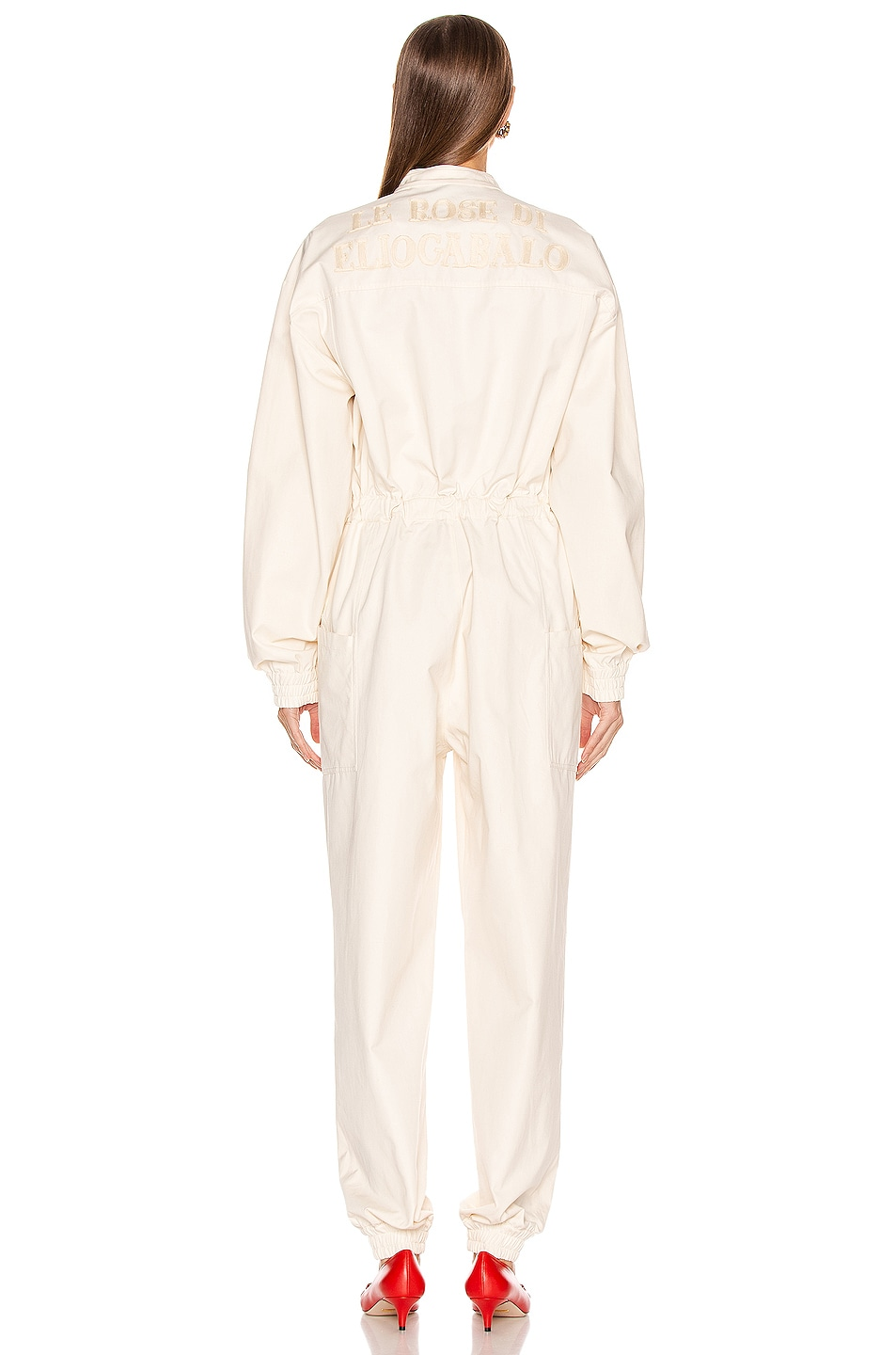 Image 4 of Gucci Long Sleeve Jumpsuit in Ivory & Multicolor