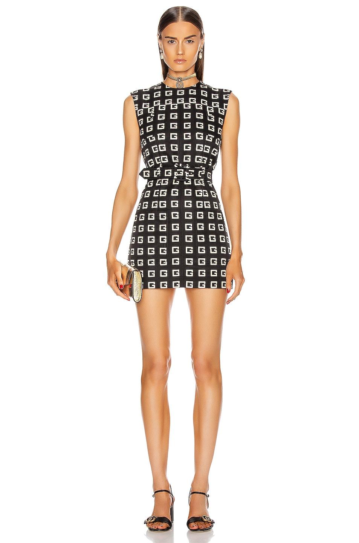 Image 1 of Gucci Sleeveless Dress in Black & Ivory & Mc