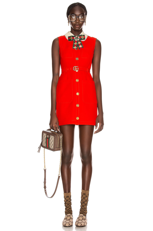 Image 1 of Gucci Sleeveless Mini Dress in Pomegranate Flower
