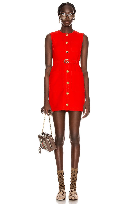 Image 2 of Gucci Sleeveless Mini Dress in Pomegranate Flower