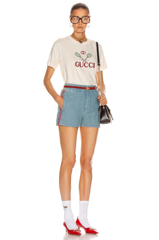 Image 5 of Gucci Ribbon Short in Blue & Multicolor