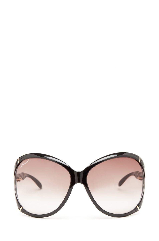 Image 1 of Gucci 3509 Sunglasses in Shiny Black