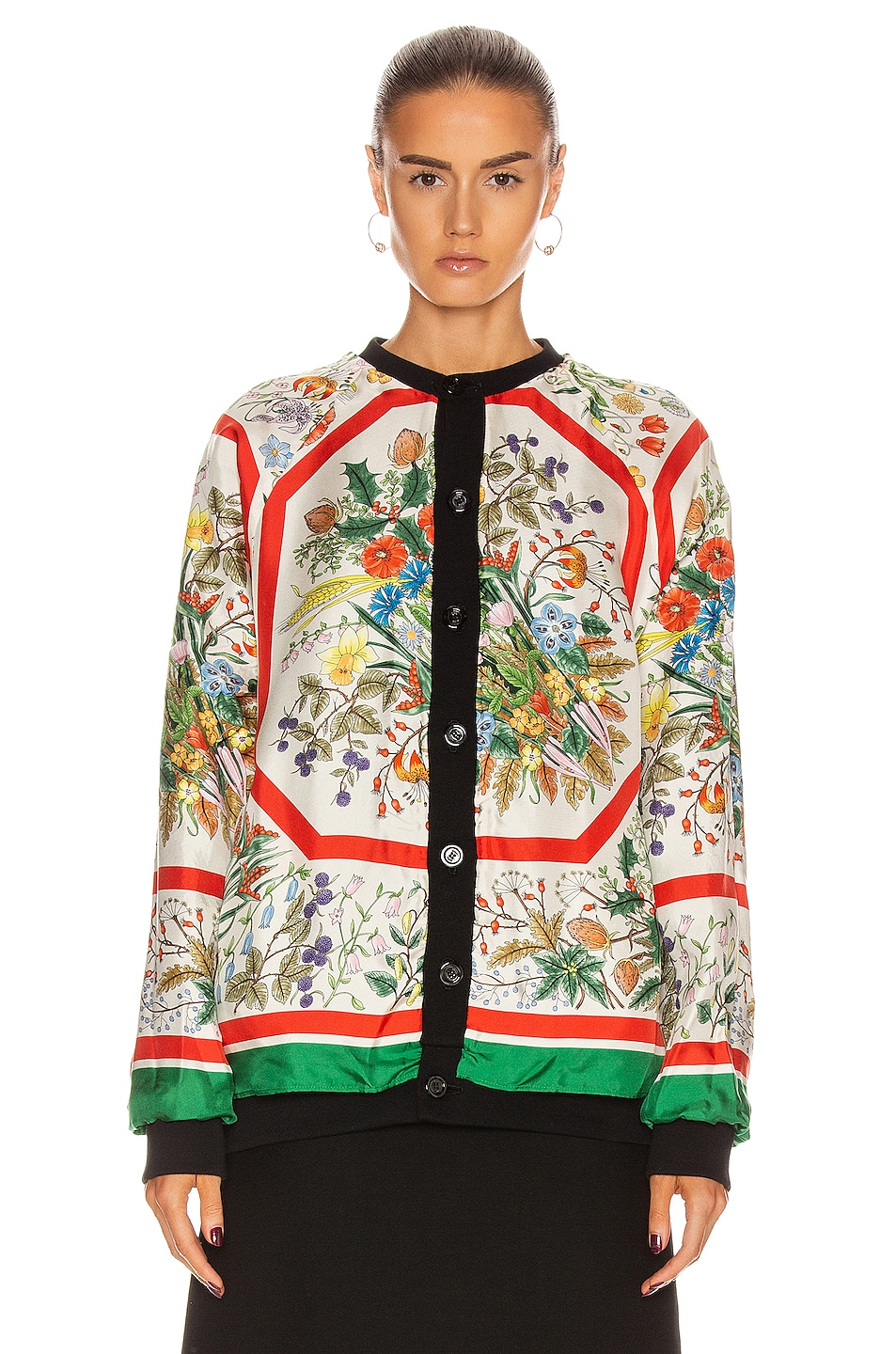Image 3 of Gucci Apples Long Sleeve Sweater in Black & Multicolor