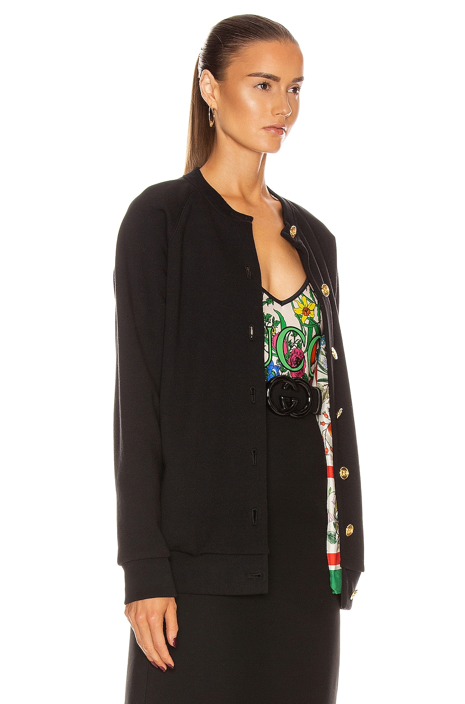 Image 5 of Gucci Apples Long Sleeve Sweater in Black & Multicolor