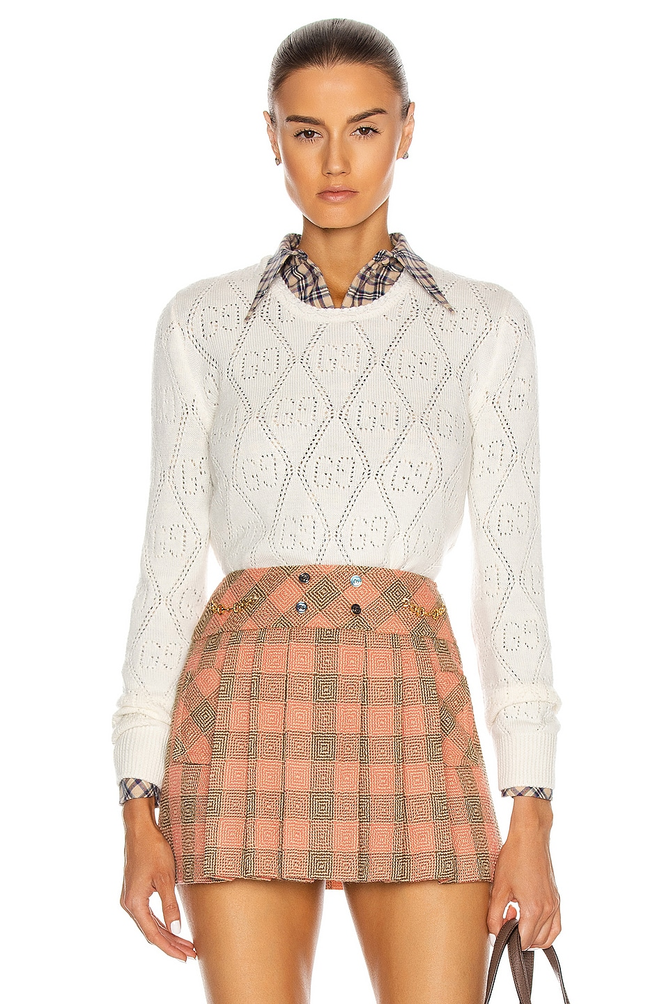 Image 1 of Gucci Long Sleeve Sweater in Ivory