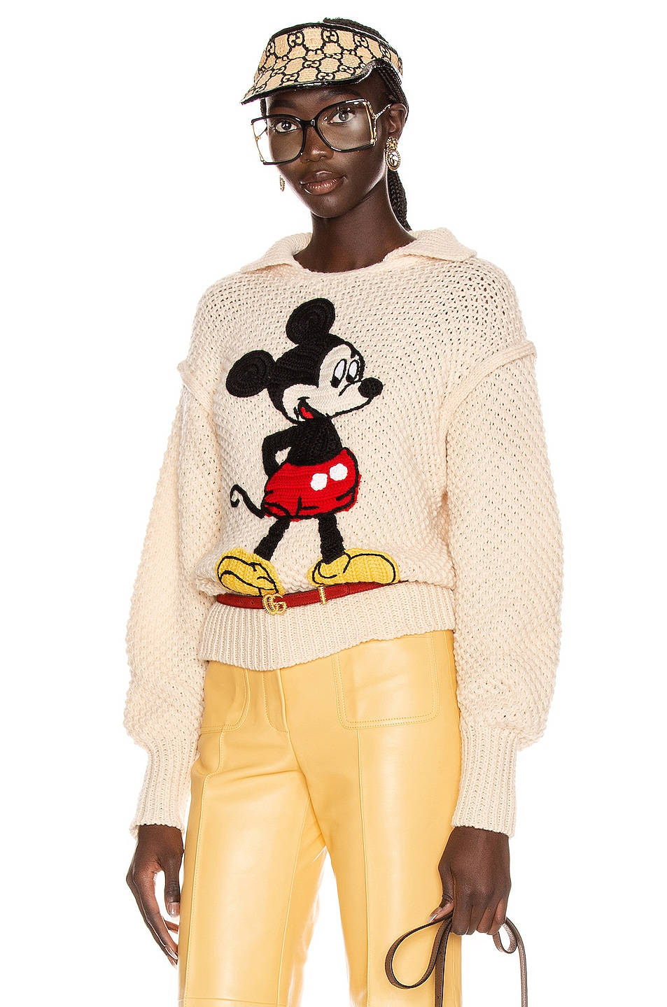 Image 1 of Gucci Mickey Long Sleeve Sweater in Ivory & Multicolor