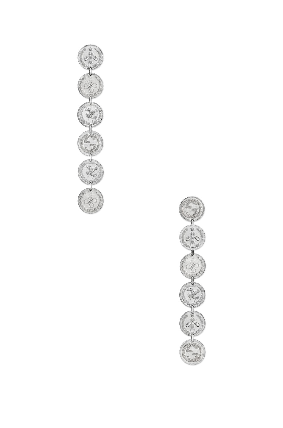 Image 1 of Gucci Coin Pendant Earrings in Sterling Silver