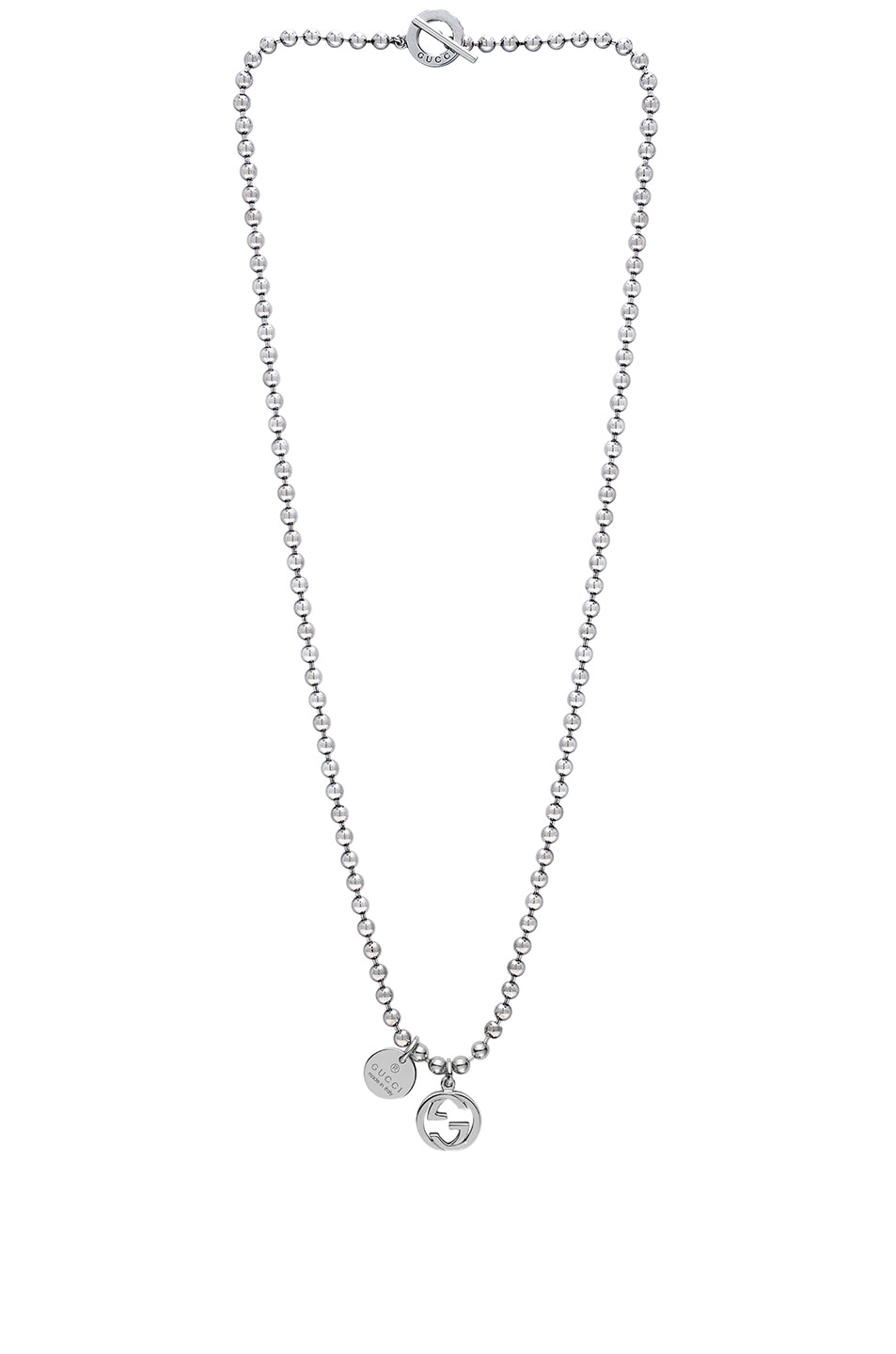Image 2 of Gucci Boule Charm Necklace in Sterling Silver
