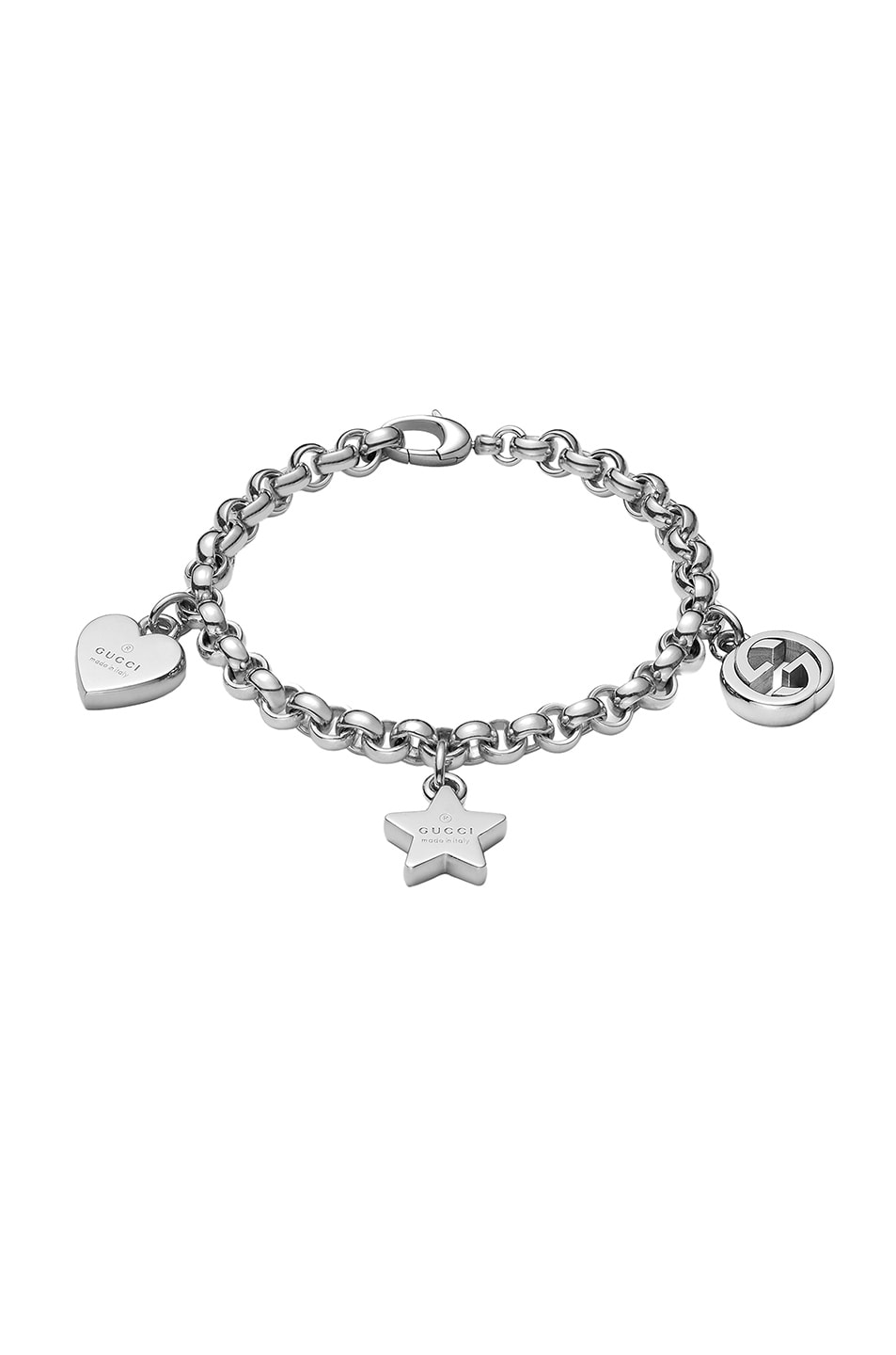 Image 1 of Gucci Trademark Charm Bracelet in Sterling Silver
