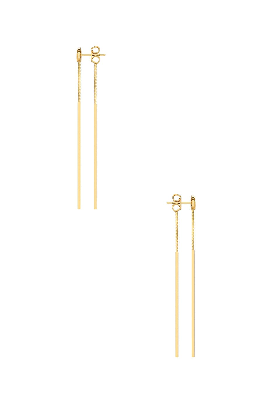Image 2 of Gucci GG Running Pendant Earrings in 18KT Yellow Gold