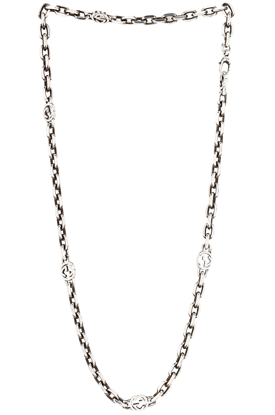Image 1 of Gucci GG Long Necklace in Silver