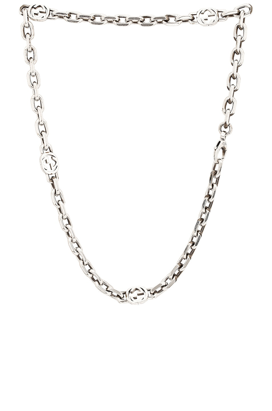 Image 1 of Gucci GG Short Necklace in Silver