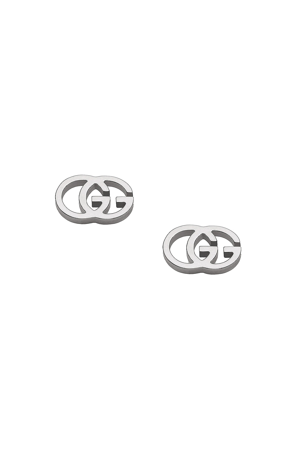 20510595bdb Image 1 of Gucci Running G Stud Earrings in 18KT White Gold