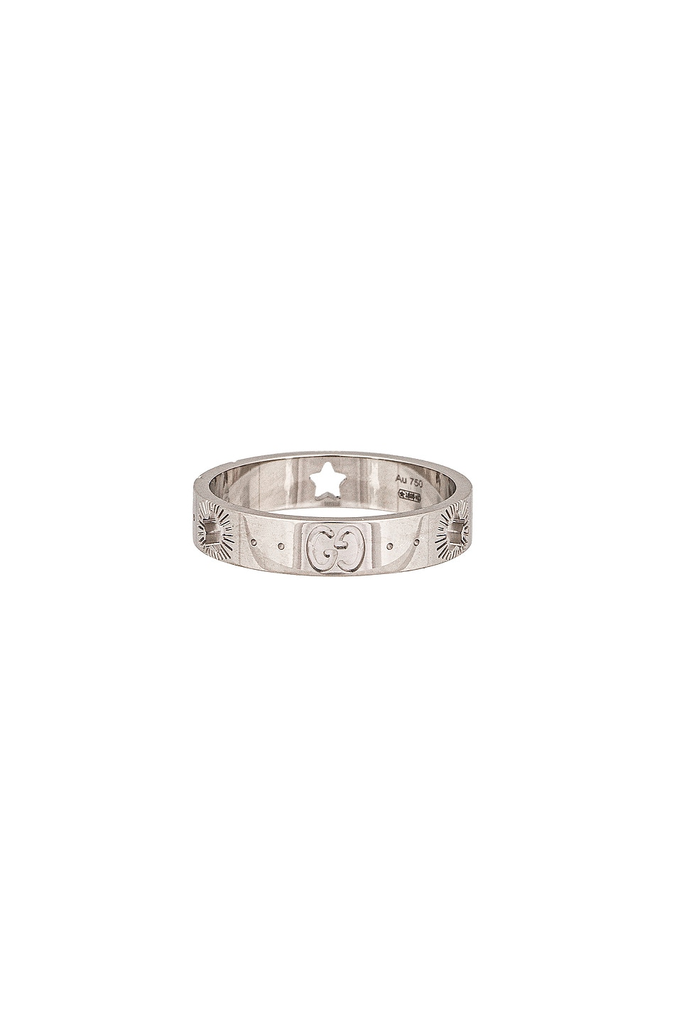 Image 1 of Gucci Icon Star Ring in White Gold
