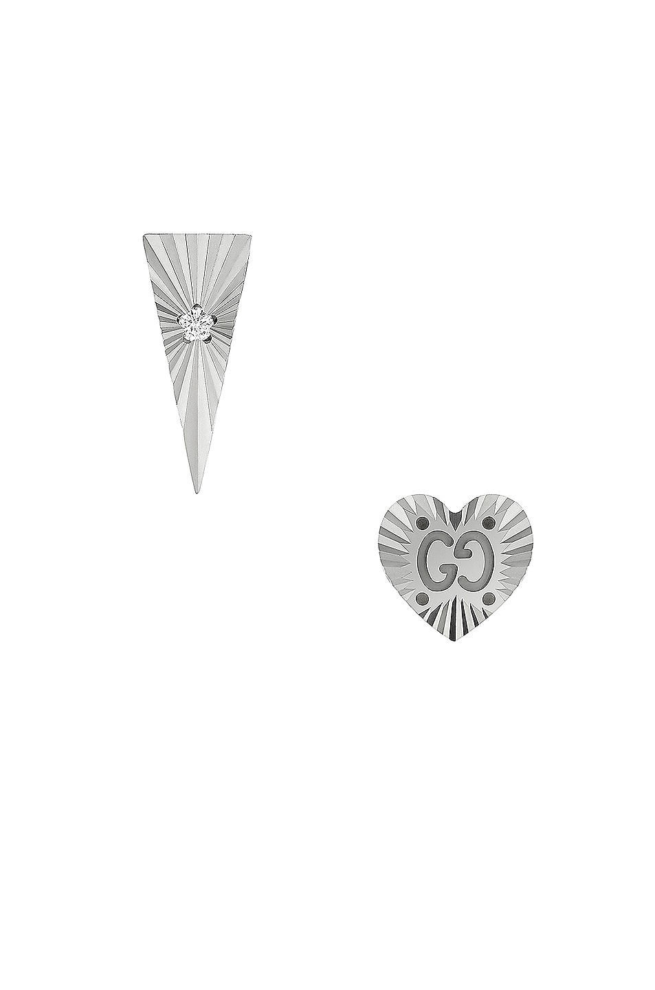 Image 1 of Gucci Icon Diamond Earrings in White Gold
