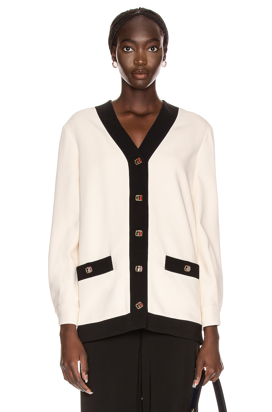 Image 1 of Gucci Long Sleeve Jacket in Ninfea White