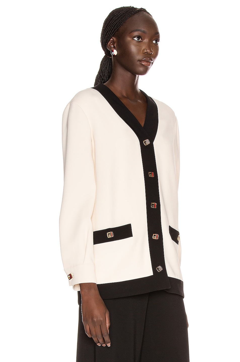 Image 2 of Gucci Long Sleeve Jacket in Ninfea White