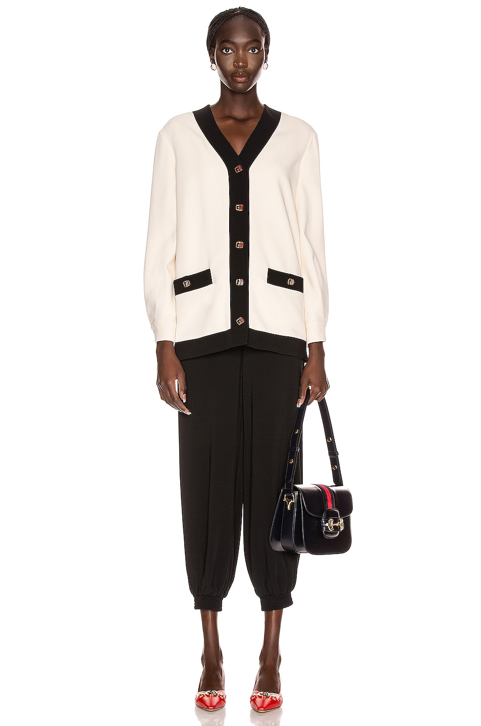 Image 4 of Gucci Long Sleeve Jacket in Ninfea White