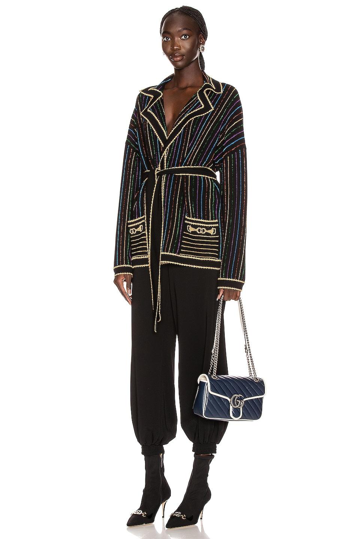 Image 1 of Gucci Long Sleeve V Neck Jacket in Black & Multicolor