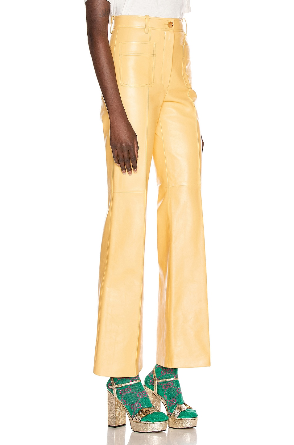 Image 2 of Gucci Leather Pant in Cornish Cream