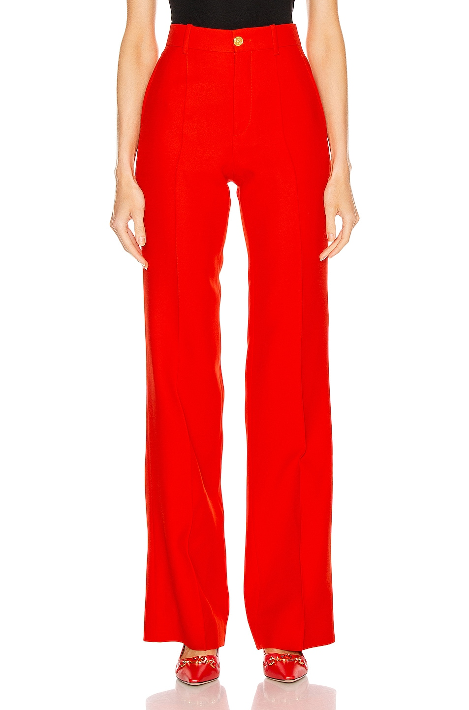 Image 1 of Gucci Flare Pant in Pomegrante Flower