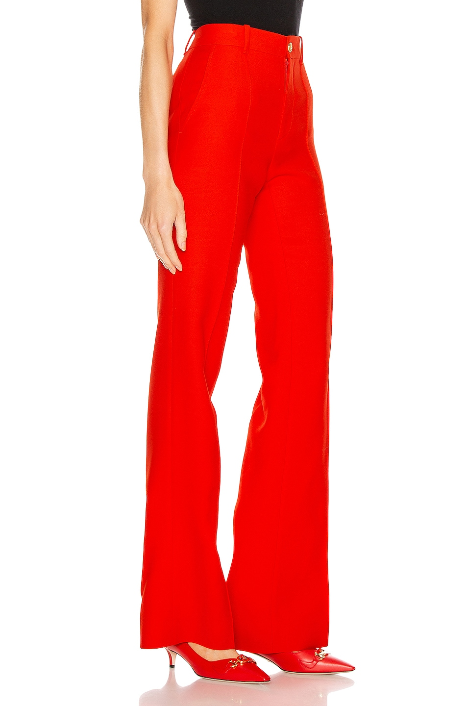 Image 2 of Gucci Flare Pant in Pomegrante Flower