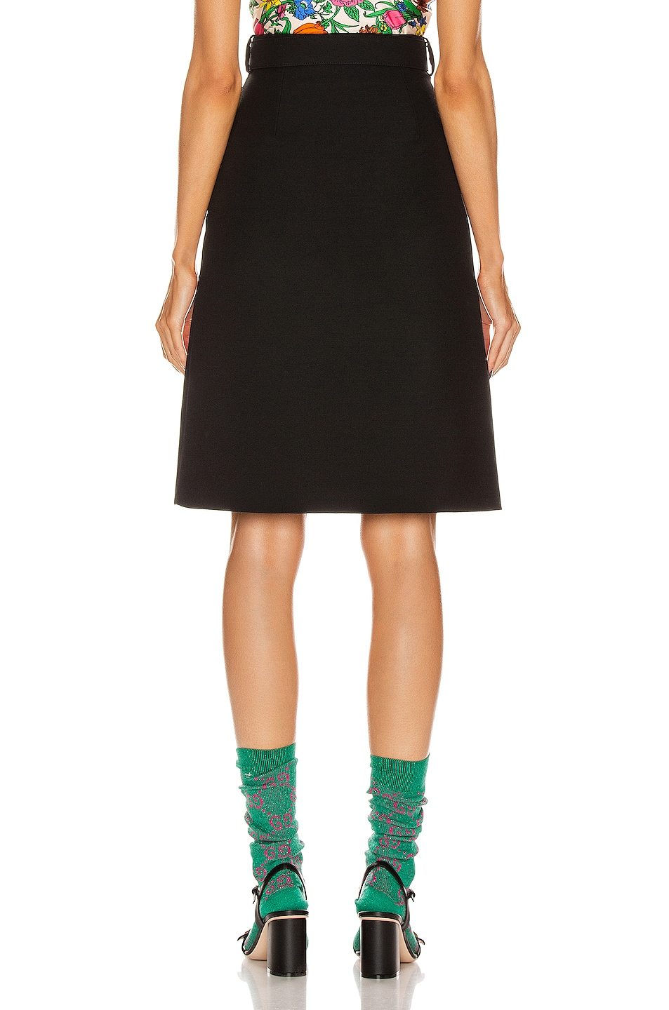 Image 3 of Gucci Belted Mini Skirt in Black