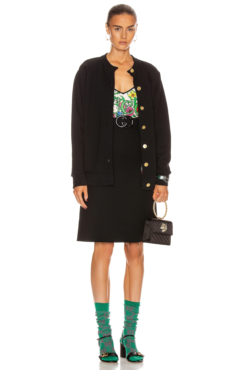 Image 4 of Gucci Belted Mini Skirt in Black