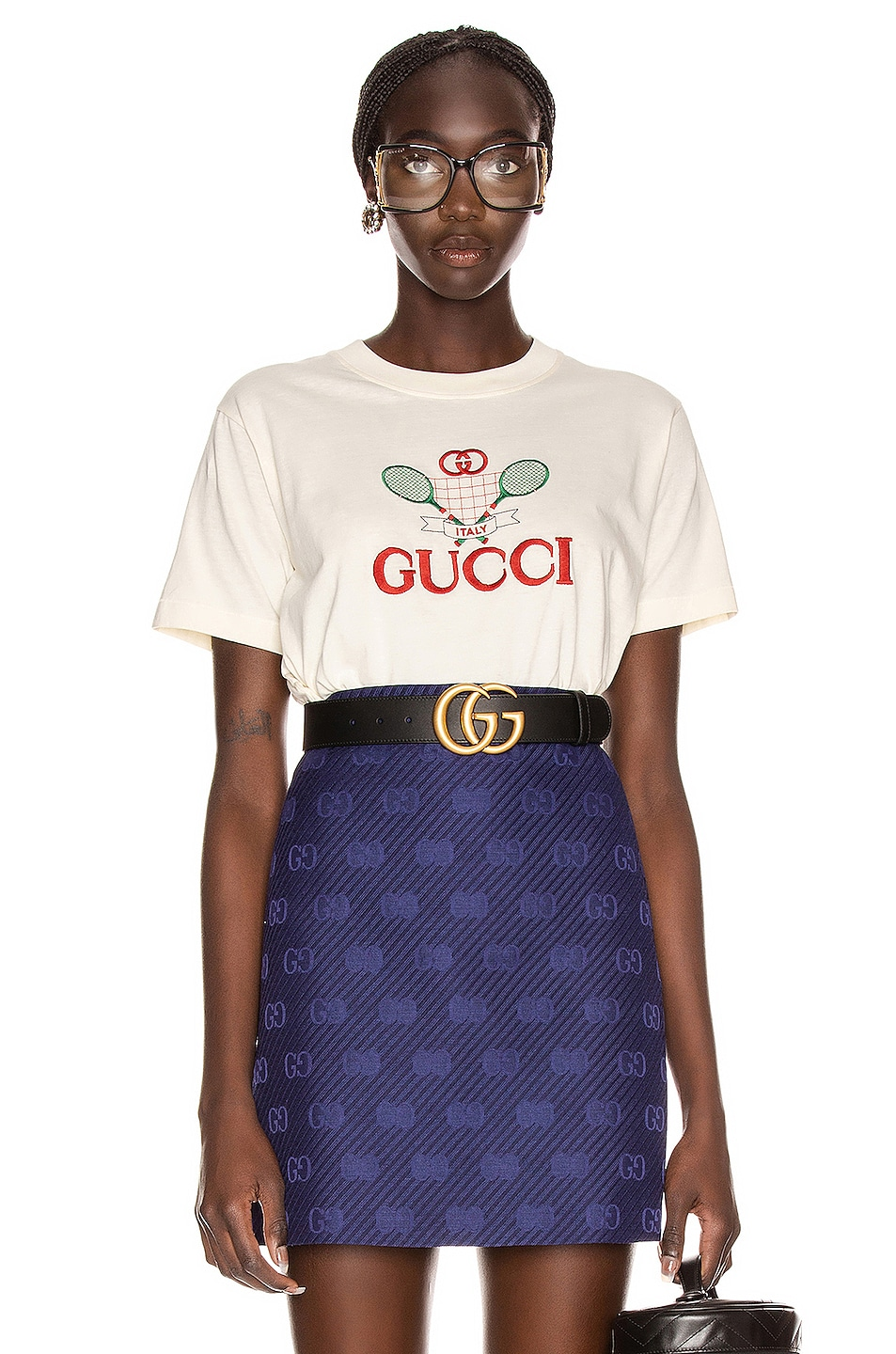 Image 1 of Gucci Logo Short Sleeve T Shirt in Sunkissed & Multicolor