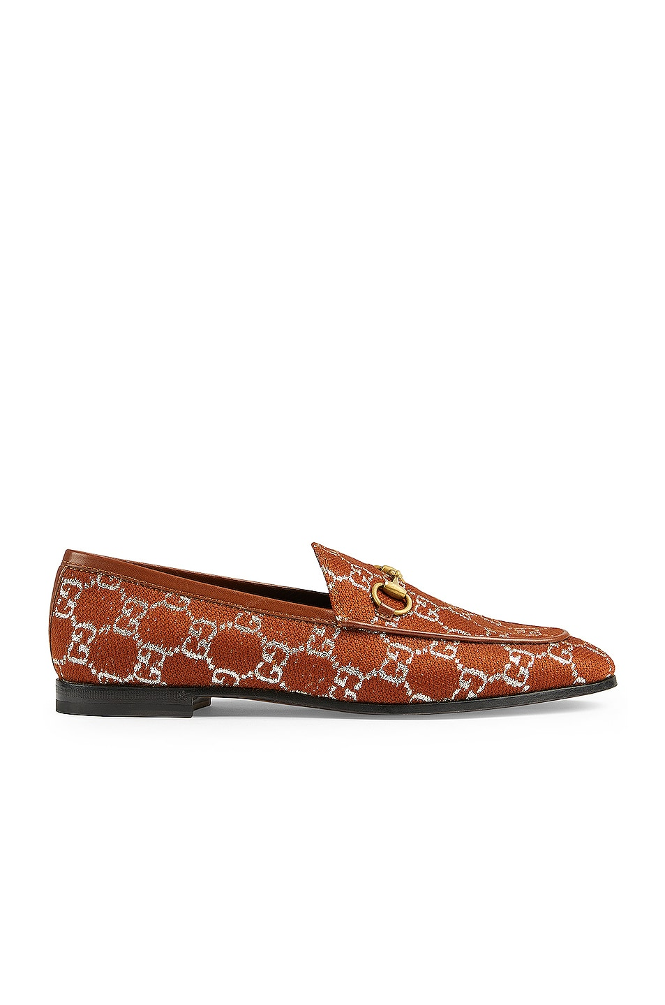 Image 1 of Gucci New Jordaan Moccasins in Burnt & Silver