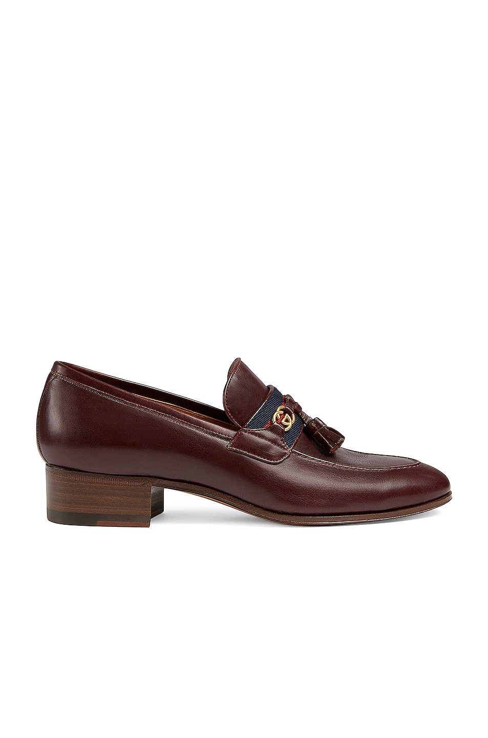 Image 1 of Gucci Paride Leather Moccasins in Indian Ebony