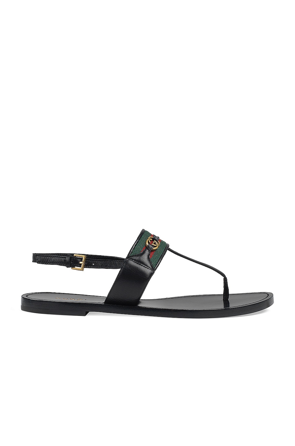 Image 1 of Gucci Siryo Thong Sandals in Nero