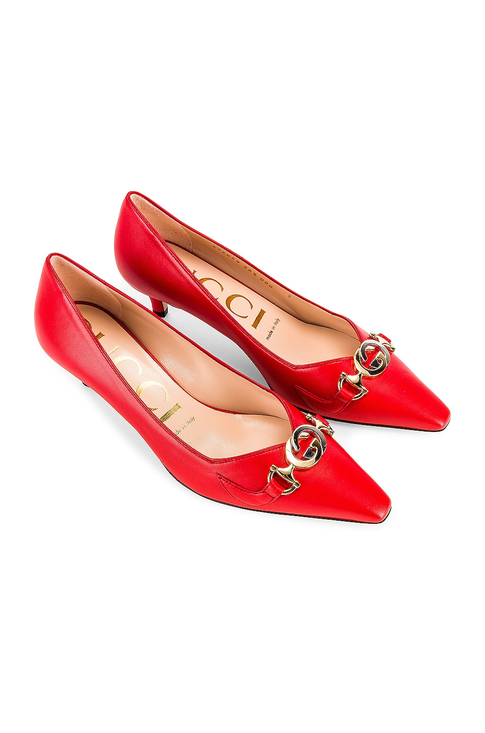 Image 1 of Gucci Low Heel Pumps in Heron Red